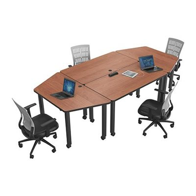 table de conf rence modulaire trap ze. Black Bedroom Furniture Sets. Home Design Ideas
