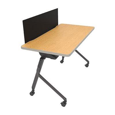 table repliable mesa avec panneau intimit 71 l. Black Bedroom Furniture Sets. Home Design Ideas